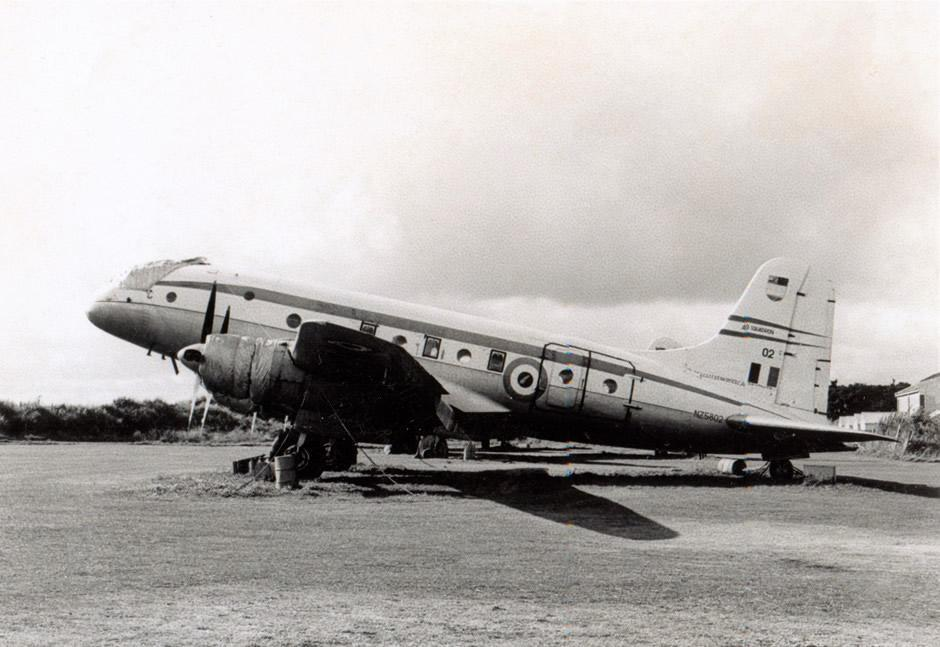 1967 Ohakea - RNZAF Handley Page Hastings CMK3 NZ5802 in long term storage – photo Jim Barclay