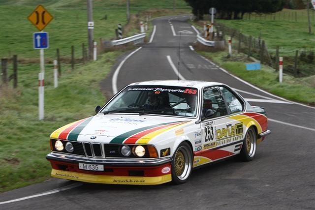 BMW Car Club NZ President, Gerry Hodges – BMW 635CSi Targa Rotorua 2011