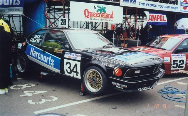 Beck Gulson BMW 635CSi – Nissan Mobil 500 Wellington 1 Dec 91 – Jim Barclay Photo