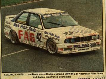 Brancatelli/Grice BMW M3 – 1st Place B & H 500 Pukekohe 1 Nov 87