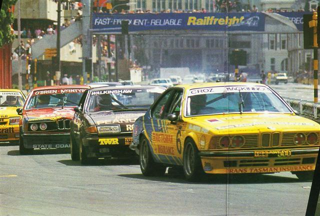 Crosby McKinnon 635CSi Leads Walkinshaw Hahne Rover SD1 And O'Brien McIntyre 635CSi