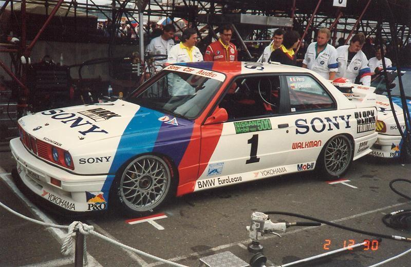 Emanuele Pirro Johnny Cecotto – Schnitzer BMW E30 2467cc – 1st Place Nissan Mobil 500 Wellington 2 December 1990 – Jim Barclay Photo