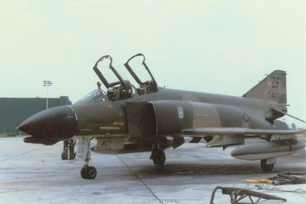 2nd May 1981 – F4D Phantom 66-467 'Kiwi' - Jim & Joanie Barclay, 308th TFTS 'Burner Bust', Homestead AFB, Florida