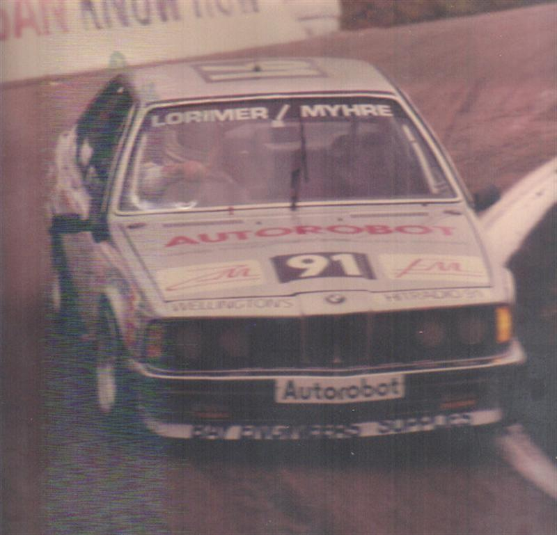 Graham Lorimer Phil Myhre BMW 635Csi – Bathurst – Photo Via Phil Myhre
