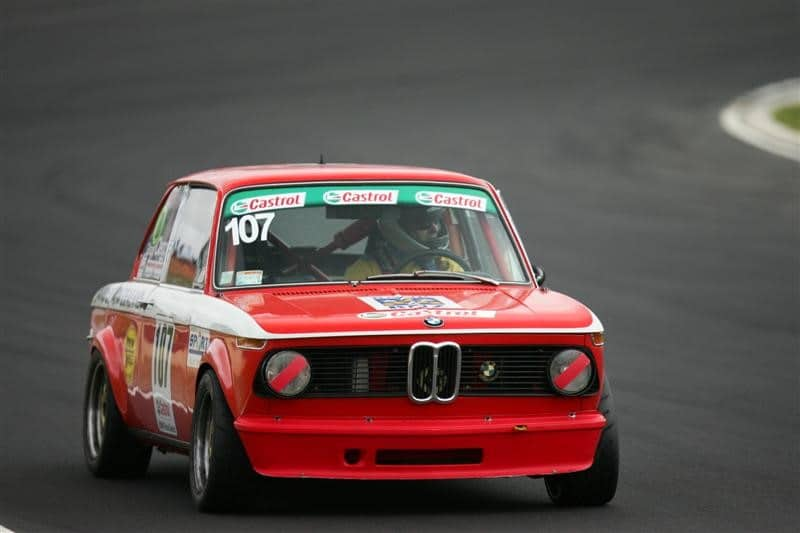 Grant Clegg In The Ex Paul Adams 1971 BMW 2002 Alpina Ti – Hampton Downs 2010