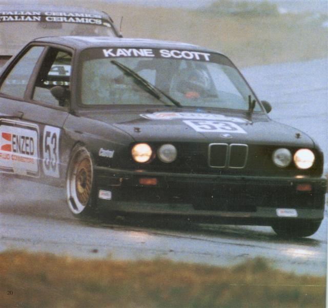 Kayne Scott BMW M3 – Manfeild 22 Jan 89