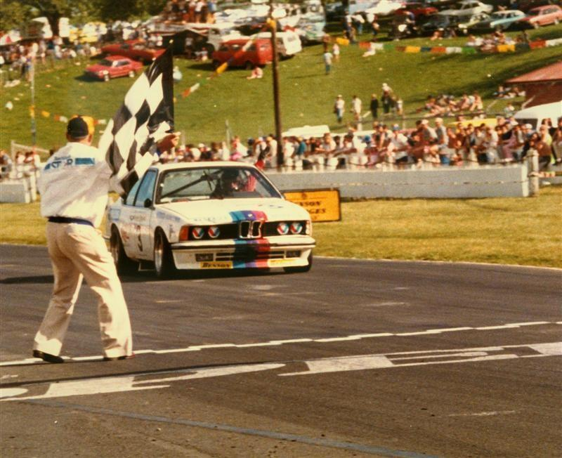 Neal Lowe In Kent Baigent's 1983 BMW 635CSi – First Place B&H 6 Hour Race – Pukekohe 1984
