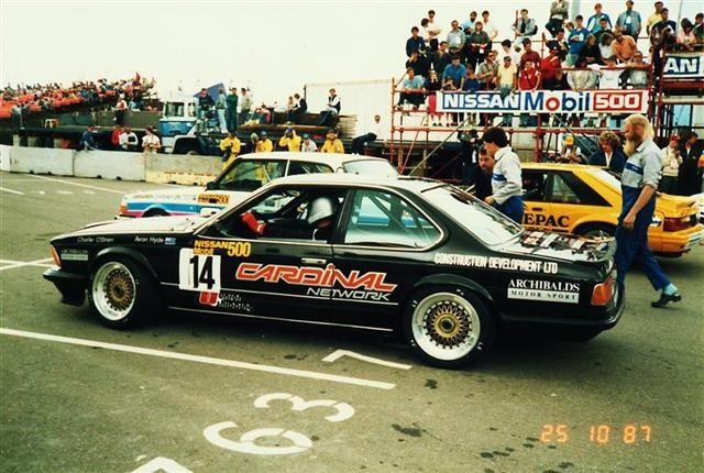 O'Brien Hyde Richards BMW 635CSi – Wellington 25 Oct 87 – Jim Barclay Photo