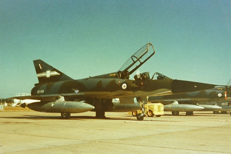 RAAF No 77 Sqn Dassault Mirage IIID A3-104 two-seater RAAF Base Darwin, 1st June 1973 Jim Barclay photo