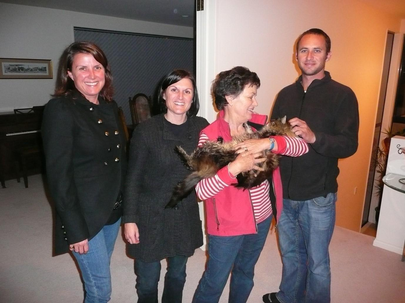 Tracey, Steph, Lady Joanie With Oscar The Baron, Brendon At Gretna Green, Browns Bay