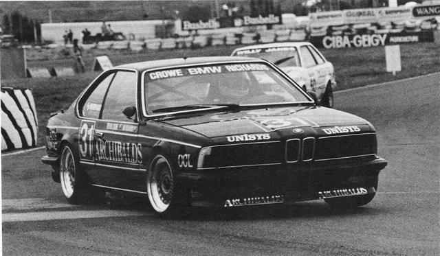 Trevor Crowe BMW 635CSi – 2nd Place – Baypark 7 Dec 86