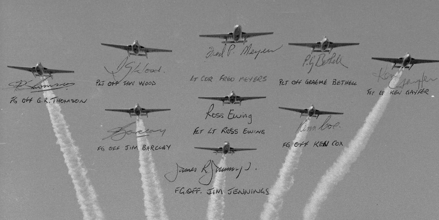 5 Sqn Diamond 9 Flypast Civic Ceremony