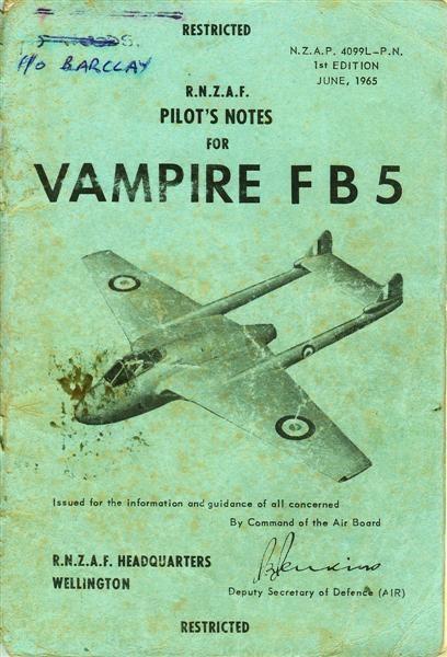 Pilots Notes Vampire Fb5